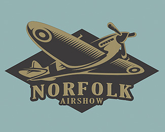 norfolk airshow retro logo