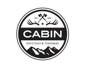 cabin retro logo