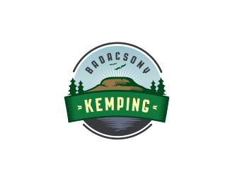 badacsony kemping retro logo