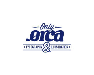 only orca typography illustration