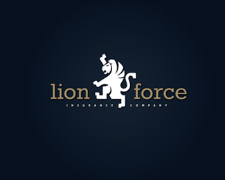 lion force retro logo