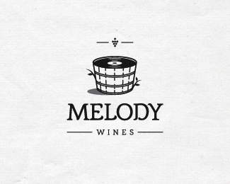 melody wines retro logo