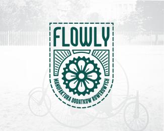 flowly retro logo