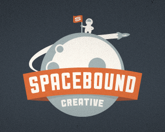 spacebound creative retro logo