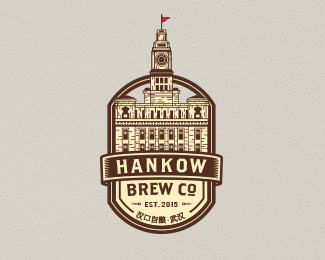 hankow brew co. retro logo