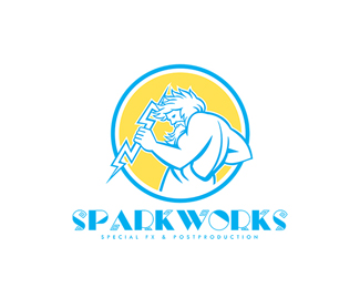 sparkworks special fx and post production retro logo