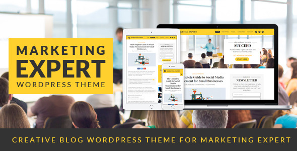 expert blog wordpress theme for marketer