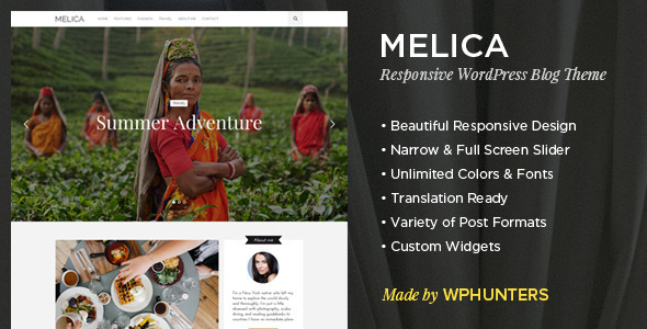 melica responsive wordpress blog theme