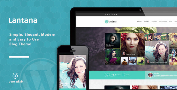 lantana responsive blog wordpress theme