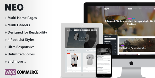 neo a modern personal wordpress theme