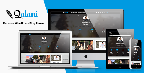 qalami personal wordpress blog theme
