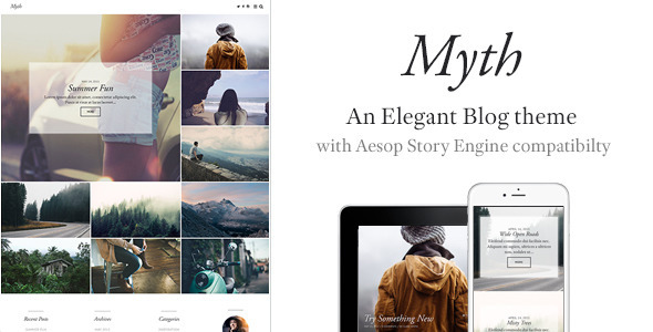 myth an elegant storytelling wordpress blog theme