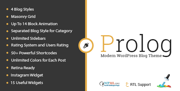 prolog personal creative blog wordpress theme