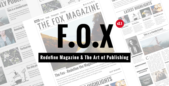 the fox contemporary magazine theme for creators