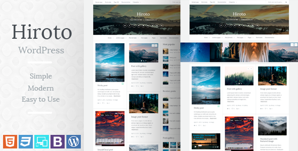 hiroto responsive wordpress blog theme