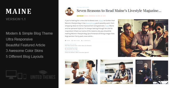 maine a responsive wordpress blog theme