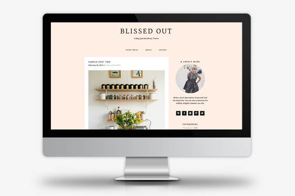blissed out wordpress theme