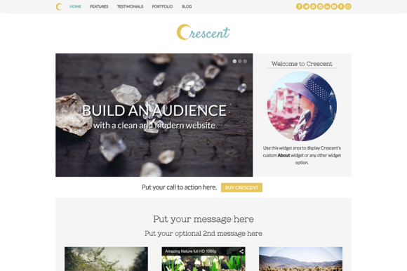 crescent responsive wordpress theme