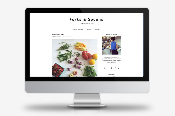 forks spoons wordpress theme