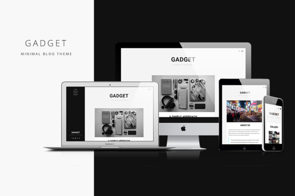 gadget minimal blog theme