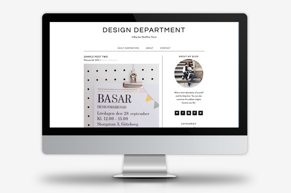 design department wordpress theme