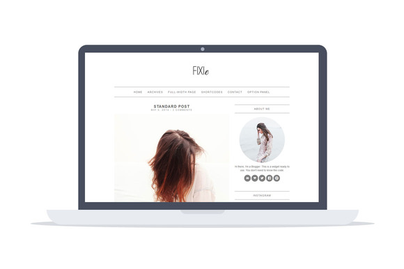 fixie wordpress blog theme