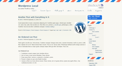 free airmail par avion blog wordpress theme