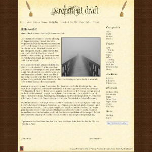 free parchment draft blog wordpress theme