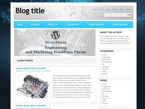 free engineering and machinering blog wordpress theme