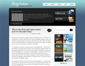 free tweetmeblue blog wordpress theme