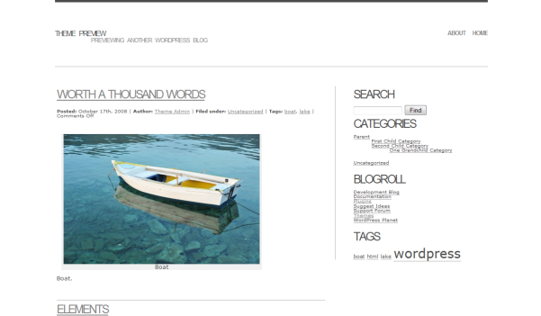 free basal blog wordpress theme