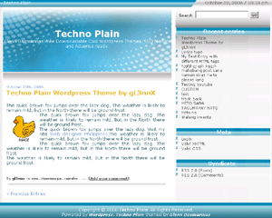 free techno plain blog wordpress theme