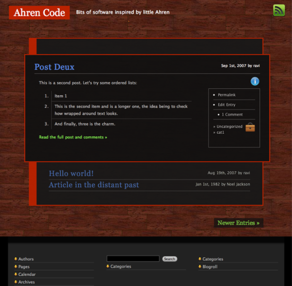 free audacity of tanish blog wordpress theme