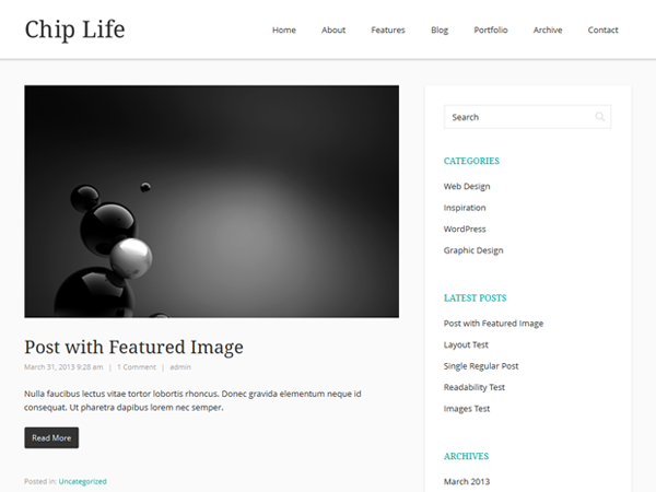 free chip life blog wordpress theme