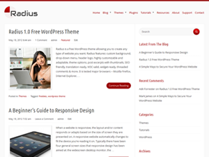 free radius blog wordpress theme