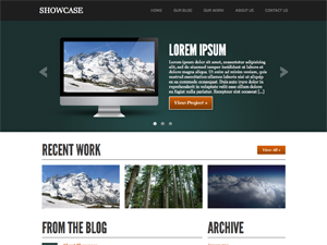 free showcase blog wordpress theme