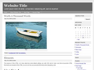 free simple chrome blog wordpress theme