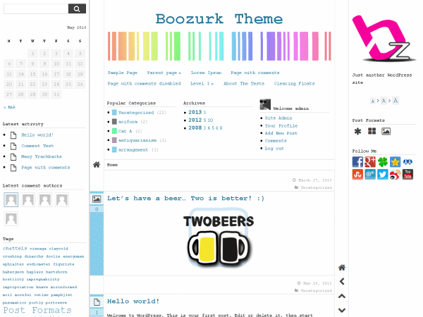 free boozurk blog wordpress theme