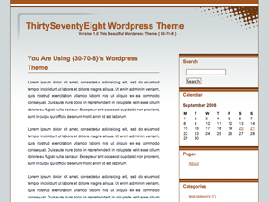 free thirtyseventyeight blog wordpress theme