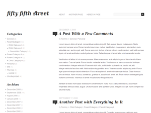 free fifty fifth street blog wordpress theme