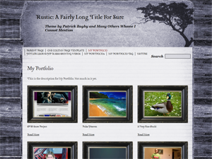free rustic blog wordpress theme