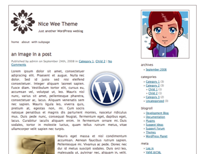 free nice wee theme blog wordpress theme