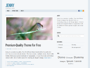 free jenny blog wordpress theme
