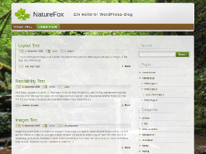 free naturefox blog wordpress theme