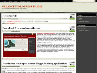 free gleance blog wordpress theme