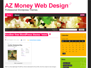 free fancy blog wordpress theme