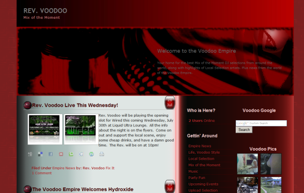 free voodoo empire 2 blog wordpress theme