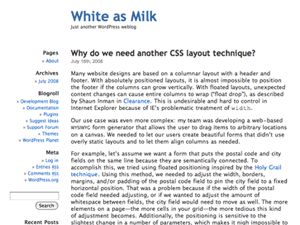 free white as milk blog wordpress theme
