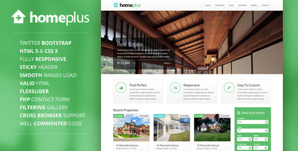 40 Free and Premium Real Estate HTML Web Templates - XDesigns