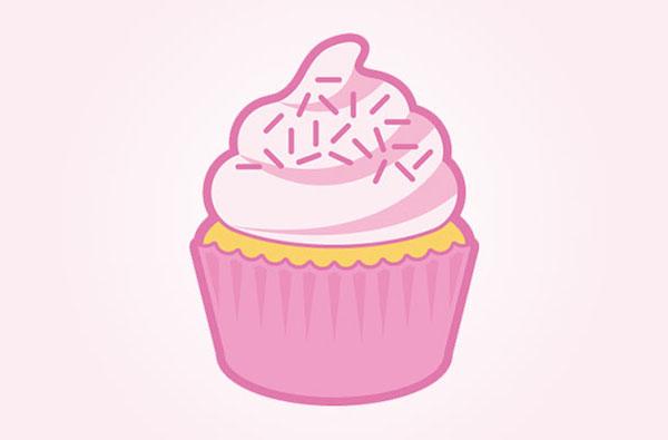 create cupcake in illustrator